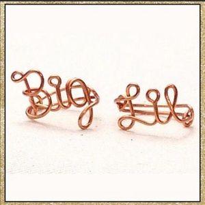 "Handmade Custom Wire ""Big""/""Lil"" (Little) Ring Set"